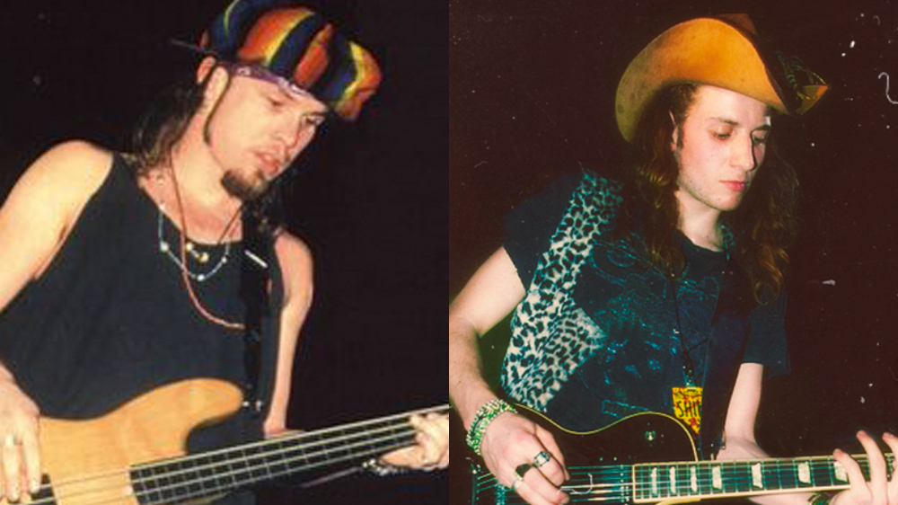 The Bassist from Pearl Jam with all the Hats